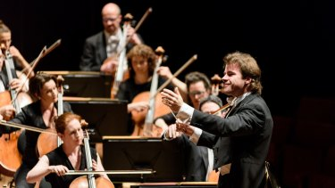 In charge: Jakub Hrusa leads the Melbourne Symphony Orchestra.