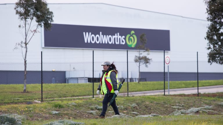 The Woolworths liquor distribution centre at Laverton.