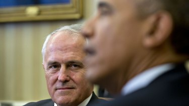 Malcolm Turnbull with US President Barack Obama.