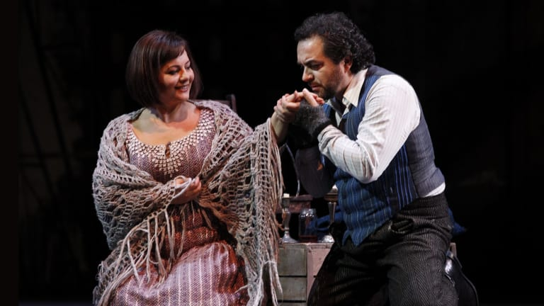 Lianna Haroutounian (Mimi) and Gianluca Terranova (Rodolfo) sang with such power some thought they were miked.