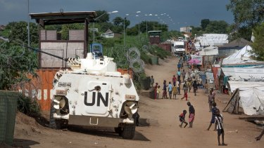 Safe haven?: A United Nations base in South Sudan's capital Juba.