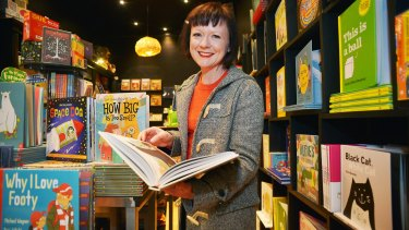 Author/illustrator Anna Walker, who won an award for <i>Mr Huff</i>, at her favourite place, The Little Bookroom.