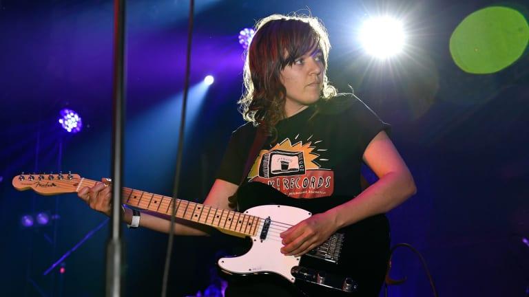 Courtney Barnett performed a three-song set.