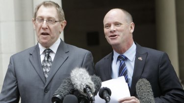 Bruce Flegg with then-premier Campbell Newman.