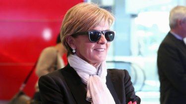 Defender of Australian fashion: Foreign Minister Julie Bishop.
