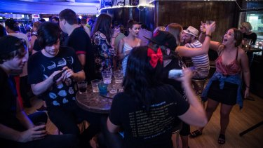 Patrons have flocked to farewell the famous George Street bar in its final fortnight of business.