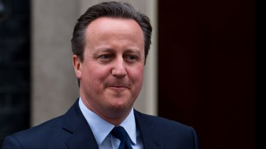 British Prime Minister David Cameron in London in March.