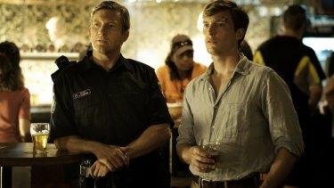David Wenham as Jock Crawford, left, and Sean Keenan as John Grant.