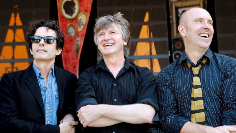 Original members Mark Hart, Neil Finn and Nick Seymour.