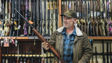 Braidwood Outdoors owner Steve West with a .223 rifle.