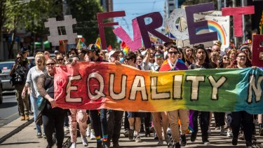 Same-sex marriage campaigners were angered by the government's draft bill.