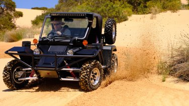 A Tomcar in action.