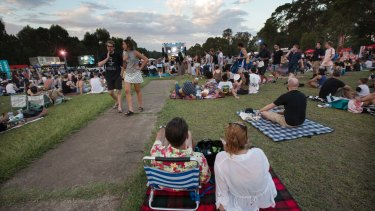 Tropfest at Parramatta Park.
