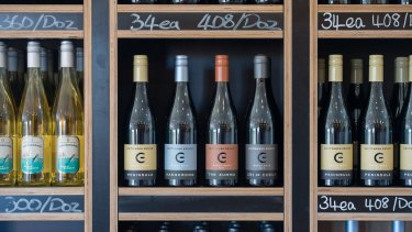 Wines on sale at Crittenden Estate.