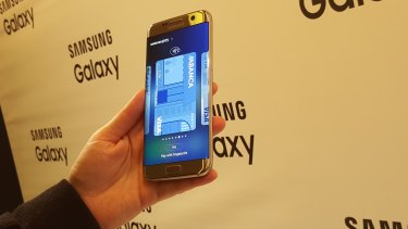 Samsung's Galaxy S7 Edge.