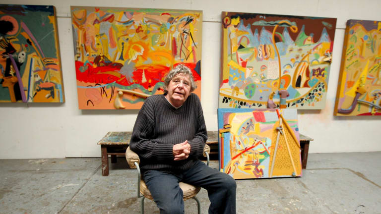 Artist Colin Lanceley at his Surry Hills studio in 2010.