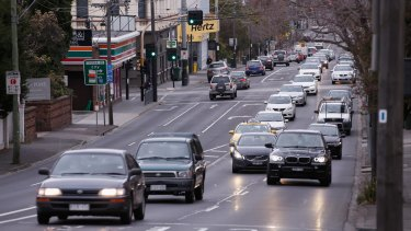 Punt Road would be widened to six lanes under options put forward by VicRoads.