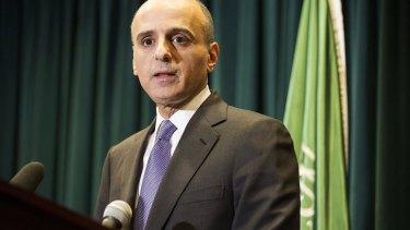 Saudi Ambassador to the United States Adel Al-Jubeir at a news conference in Washington March 25, 2015.