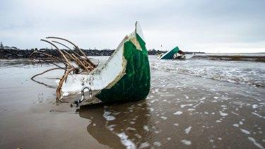 More debris on the beaches of Devonport, Tasmania.