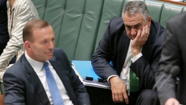 Prime Minister Tony Abbott's pledge is in contrast to Treasurer Joe Hockey's refusal to put a timeframe on a return to surplus.