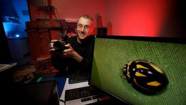 Amateur photographer Reiner Richter discovered the elusive ladybird.