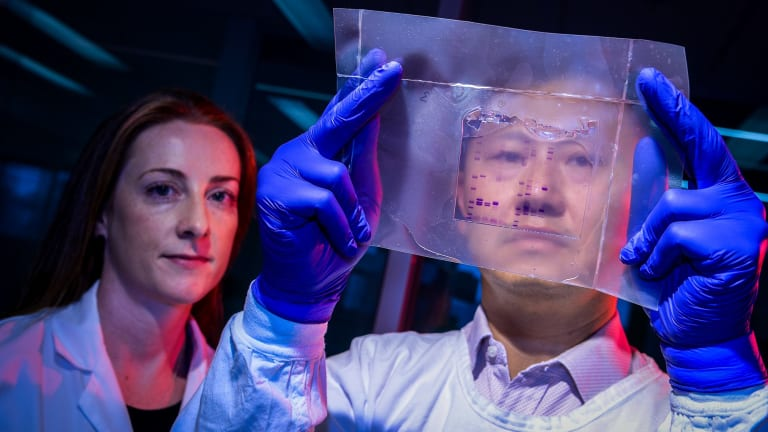 Researchers Niamh Mangan and Johnson Mak were part of a team that discovered the HIV-beating powers of a naturally occurring protein.