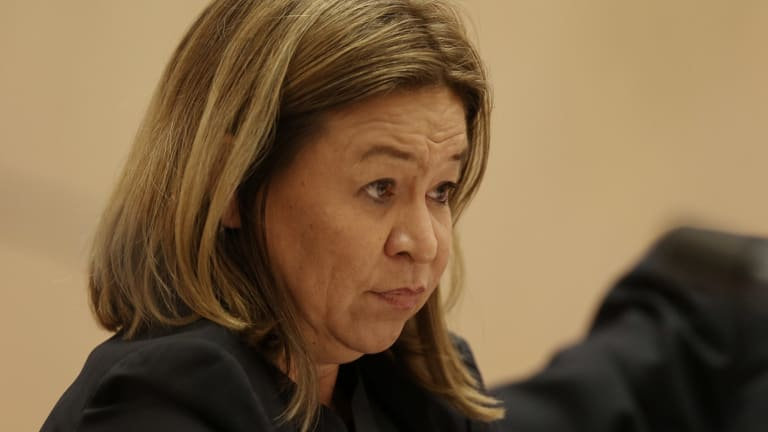 ABC boss Michelle Guthrie has attacked on her commercial television rivals in a speech to the ABC Friends Public Conference dinner in Sydney on Friday.