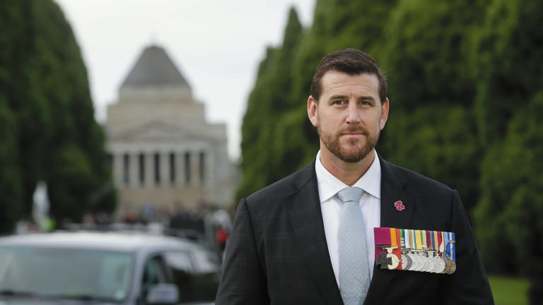 Ben Roberts-Smith, VC, MG on Anzac day, 2017