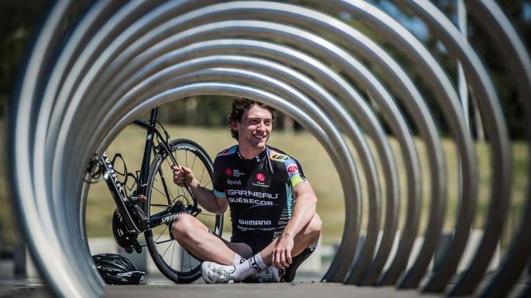 'The goal is to spend this year with Axeon and then ultimately move into the professional ranks': Canberra cyclist Michael Rice.