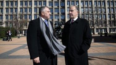 Treasurer Joe Hockey and Treasury Secretary John Fraser on Thursday.