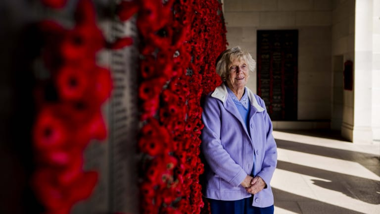 Joan Broadfield-Smith of Wollongong said her visit to the Australian War Memorial was a healing experience.