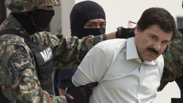 "Joaquin Guzman, aka El Chapo or ""Shorty"", after his arrest in February 2014."