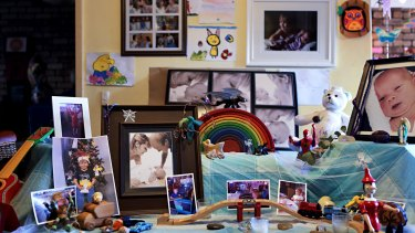 Angela Kiszko makes her children a 'birthday table' each year. Oshin went into chemotherapy the day after his sixth birthday party.