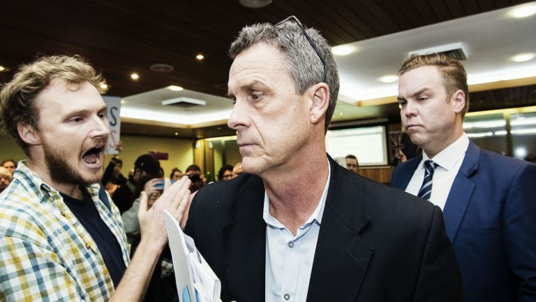 Inner West Council Administrator Richard Pearson was heckled at the council meeting.