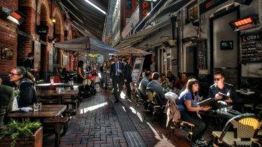 Hardware Lane a heartland of Melbourne's dining precincts.