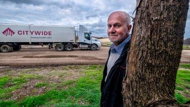 Harry van Moorst, president of the Western Region Environment Centre, at the Werribee tip.