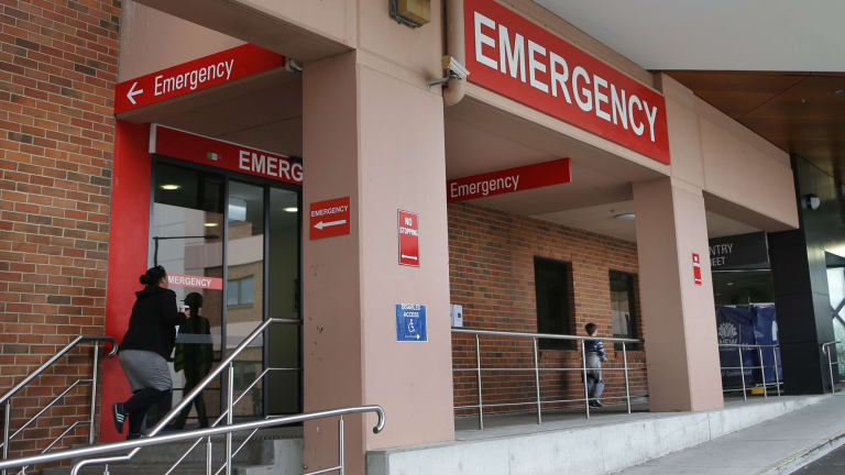 The emergency department at St George Hospital in Kogarah. The hospital has accepted $300,000 in donations tied to poker machine increases.