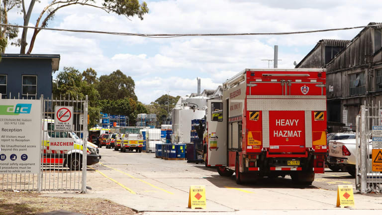 Emergency services were called to the scene at DIC headquarters about 8.45am on Thursday.