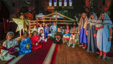 Children from St Verena and St Bishoy Coptic Orthodox Church in Armadale during a dress rehearsal for a nativity play in the lead-up to Coptic Christmas on January 7.