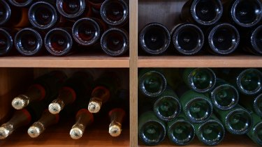 The average cost of a bottle from Tony Abbott's government cellars is about $26.