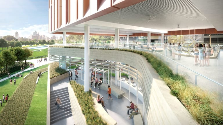 Artist impressions for the new inner-city school fore 1200 students.