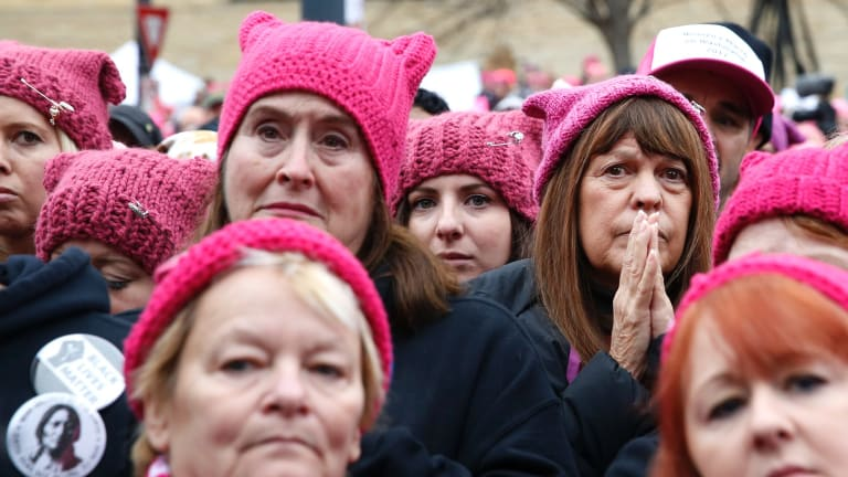 Pussy hat was on the cover of both <i>Time</i> magazine and <i>The New Yorker</i> – seemingly already the iconic representation of the growing movement of resistance to Trump and his threats to women's rights.