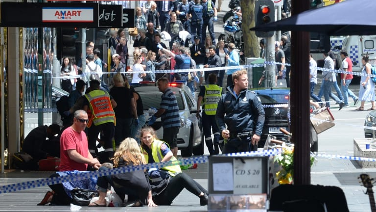 The chaos on Bourke Street on Friday, January 20.