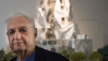 Flipped the bird: Frank Gehry later apologised that he was tired.