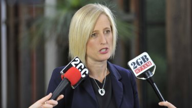 ACT Chief Minister Katy Gallagher after announcing she will run for a senate seat.