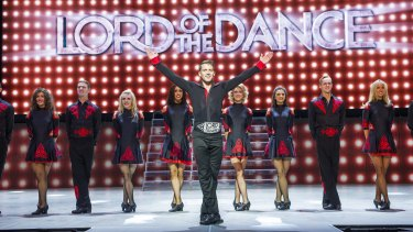 The Lord of the Dance: Dangerous Games adds a light show and pyrotechnics to the troupe's polished performance.