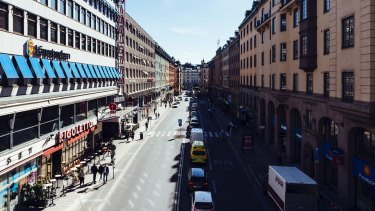 Traffic in Kungsgatan, central Stockholm. The scandal saw contractors have access to the identities of people in witness protection programs, drivers' licences and details of Sweden's roads, ports, bridges and subway systems.