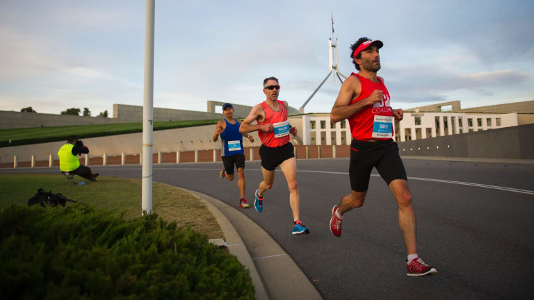 Competirors in The Canberra Times marathon in April this year.