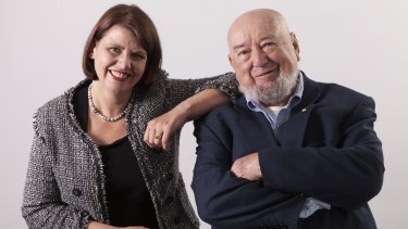Meg and Tom Keneally, daughter and father co-authors of <i>The Soldier's Curse</i>.