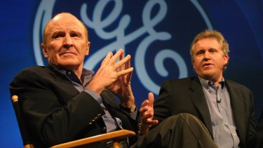 Jack Welch, left, while chief executive of General Electric in the 1990s, required 500 of his top managers to pair up with junior workers to learn how to use the internet.